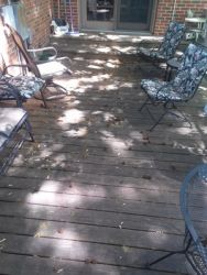 if your deck looks like this! We can wash new life back into it and make it look like new again.