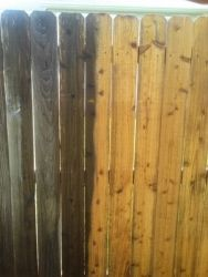 The durability and beauty of natural wood on full display after we've done our magic on this fence